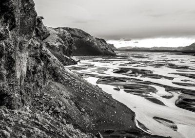 Island Gletscherfluss